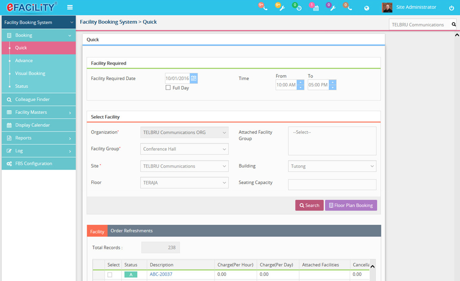 Facility Booking System