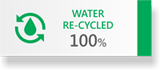 WATER RE-CYCLED 100%